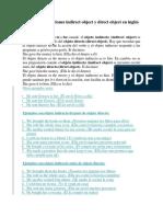21 Ejemplos Oraciones Indirect Object y Direct Object en Inglés y Español