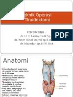 Teknik Operasi Total Tiroidektomi
