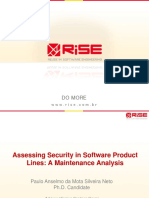 Assessing Security in Software Product Lines