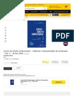 TOMAZETTE, Marilon – Curso de Direito Empresarial - Falência e Recuperação de Empresas - Vol. 3 - 4ª Ed - 2016