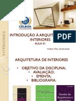 Aula 01 - Introdução a Arquitetura de Interiores