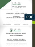 Diploma La Voz Grancolombiana 2017