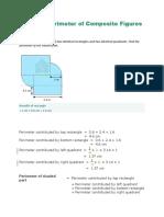 Area and Perimeter of Composite Figures