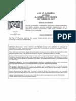 Alhambra City Council agenda Sept 25, 2017