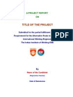 Alternative Route Project Format