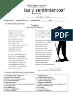 Prueba de Lenguaje y Comunicación- Segunda Parte