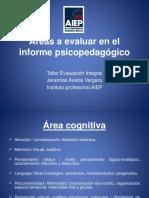 Áreas a Evaluar en El Informe Psicopedagógico