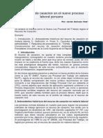 El recurso de casacion en el nuevo proceso laboral peruano.docx