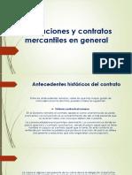 Obligaciones y Contratos Mercantiles en General