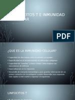 Linfocitos T e Inmunidad Celular