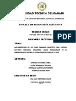 Diseño de Paneles de Control Implementación en El Taller