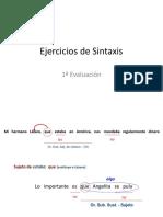 EJERCICIOS SINTAXIS 1ª