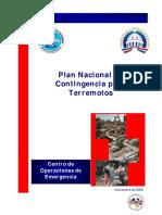 Plan Nacional de Contingencia Para Terremotos
