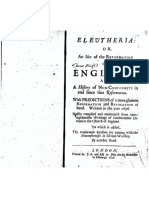 Eleutheria, Or, An Idea of the Reformation in England, And a History of Non-conformity in and Since That Reformation