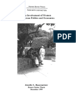Jennifer Baumaeir. the Involment of Women in Mexican Politic and Economics
