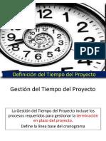 DefiniciÓn Del Tiempo Del Proyecto (1)