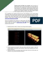 Cara Menghitung Berat Bangunan Pada SAP 2000 Secara Otomatis