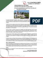 NP99-2017 | Contraloría continúa con el acompañamiento y supervisión a las obras de Reconstrucción del país