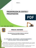 Presentacion de Costos y Presupuestos