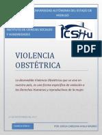Ensayo Sobre La Violencia Obstetrica Por Sheila Carolina Ayala Madrid