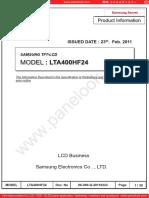 LTA400HF24 Samsung