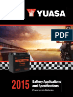 Yuasa Battery Specifications 2015
