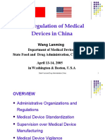 The Regulation of Medical Device in China