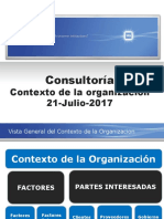 Consultoria Contexto de La Organizacion 7-21-17