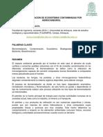 Biorremediacion de Ecosistemas Contaminados Con Hidrocarburos.