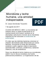 Microbiota y Leche Humana