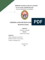 Certificacion de BPM