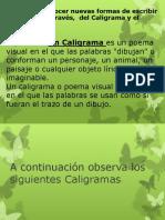 Caligrama y Acróstico