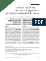 Atención prenatal en el primer nivel de atención - características de los proveedores que influyen en la satisfacción de las usuarias.pdf