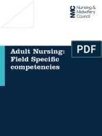 Adult Nursing Field Specific Competencies