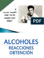 Alcoholes. Reacciones Químicas 2017