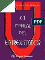 Manual Del Entrevistador - Morgan y Coger