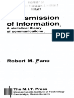 Transmission of Information - A Statistical Theory of Communication - Robert Fano
