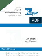 Kalamazoo presentation on economic development and housing