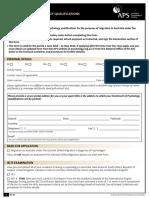 AUSTRALIA Assessment of Quals Migration Form
