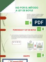 Porosidad Por El Método de La Ley de Boyle