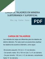 CARGA DE TALADROS EN MINERIA SUBTERRANEA Y SUPERFICIAL.pptx