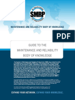 SMRP Guide to the Maintenance and Reliability Body of Knowledge(2)