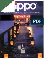 1999 Full Line Zippo Catalog