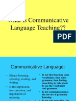 What is Communicative Language Teaching