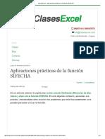 Clases Excel - Aplicaciones Prácticas de La Función SIFECHA