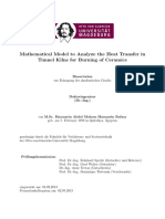 Mathematical Model to Analyze the Heat Transfer in Tunnel Kilns for Burning of Ceramics