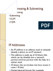 Chapter 7b IP Addressing and Subnetting