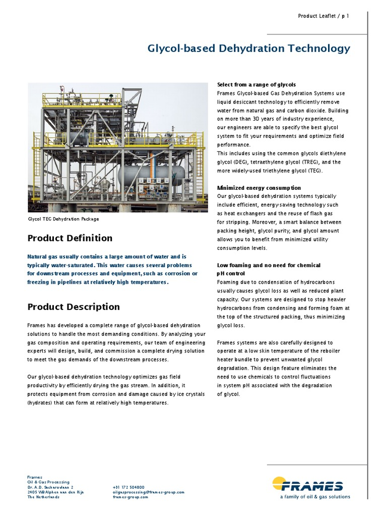 Product Leaflet Glycol Dehydration Web | Natural Gas | Chemical ...