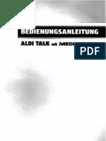 Aldi Talk mit MEDIONmobile Bedienungsanleitung 2010