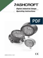 Manual Digital Gauge 2074 2174 2274